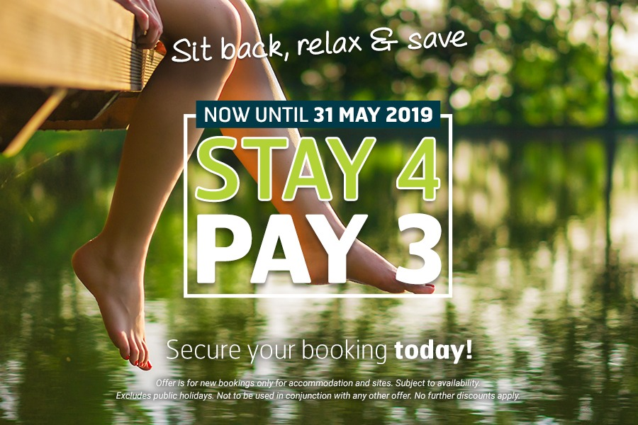 Stay 4 Pay 3 at Landsborough Pines