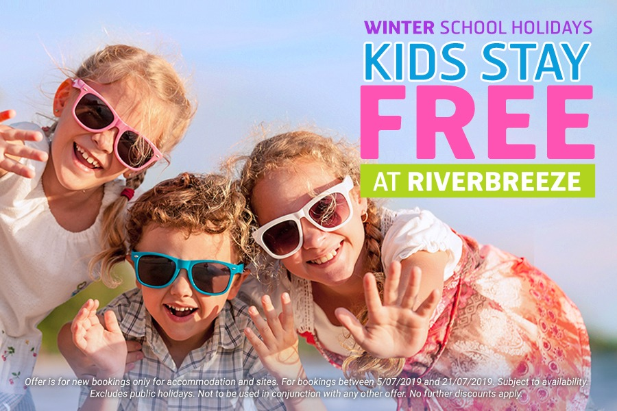 Kids Stay Free at Riverbreeze Holiday Park