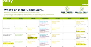 What's On at Tall Timbers and Coastal Palms – May